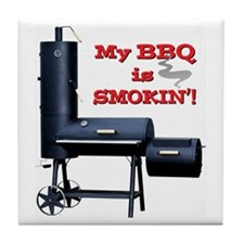 My BBQ is Smokin'! Tile Coaster