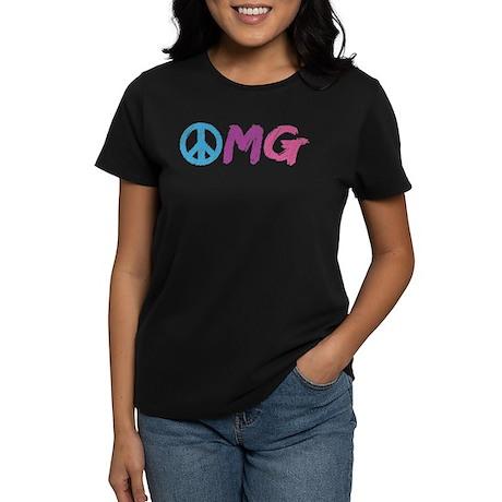 OMG Peace Sign Women's Dark T-Shirt