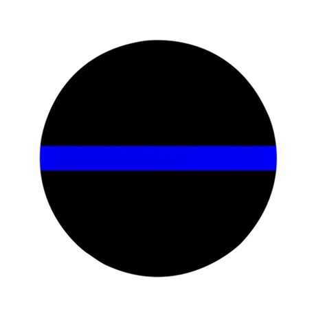 "Police Thin Blue Line 3.5"" Button"