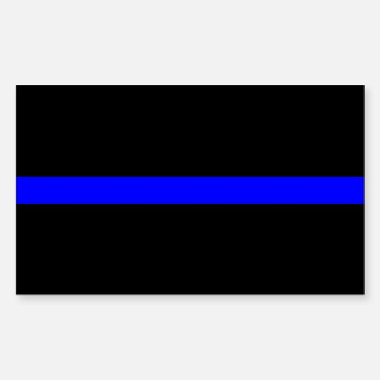 Police Thin Blue Line Sticker (Rectangle)