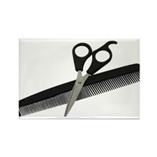 Scissors and Comb Rectangle Magnet (100 pack)