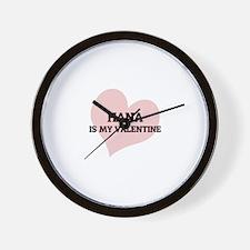 Hana Is My Valentine Wall Clock