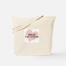 Halle Is My Valentine Tote Bag