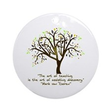 The Art Of Teaching Ornament (Round)