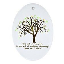 The Art Of Teaching Ornament (Oval)