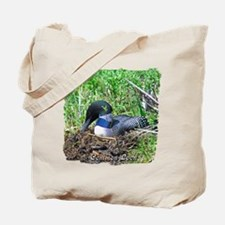 Loon on nest Tote Bag