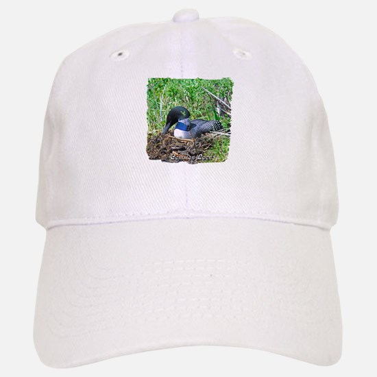 Loon on nest Baseball Baseball Cap
