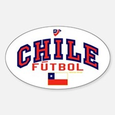 CL Chile Futbol Soccer Sticker (Oval)
