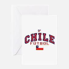 CL Chile Futbol Soccer Greeting Card