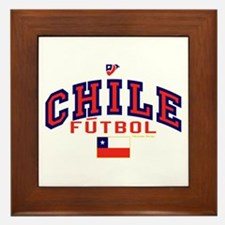 CL Chile Futbol Soccer Framed Tile