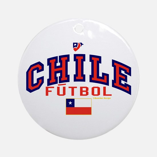 CL Chile Futbol Soccer Ornament (Round)