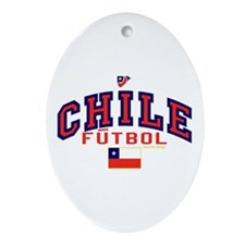 CL Chile Futbol Soccer Ornament (Oval)