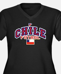 CL Chile Futbol Soccer Women's Plus Size V-Neck Da