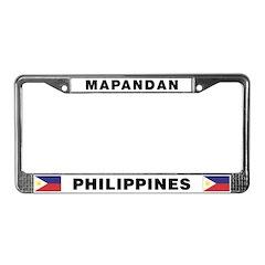 Mapandan License Plate Frame