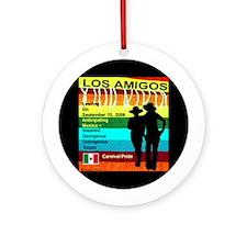 Los Amigos Carnival Pride Ornament (Round)