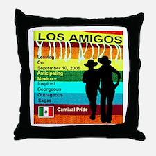 Los Amigos Carnival Pride Throw Pillow