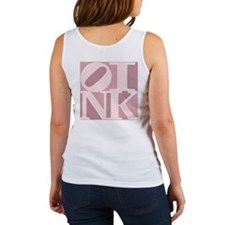 OINK Tank Top (Women's, Pink Graphic)