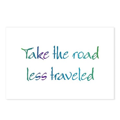 Road Less Traveled Postcards (Package of 8)