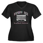 Rainbow Pier Women's Plus Size V-Neck Dark T-Shirt