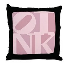 Oink Throw Pillow