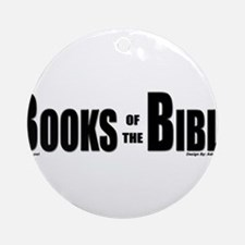 Books of the Bible Items Ornament (Round)