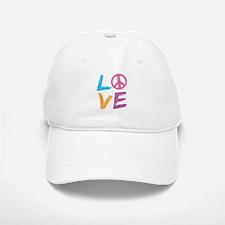 Love Peace Sign Baseball Baseball Cap
