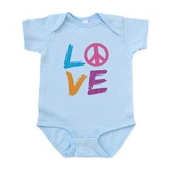 Love Peace Sign Infant Bodysuit