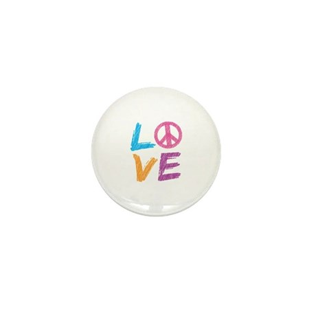 Love Peace Sign Mini Button (10 pack)