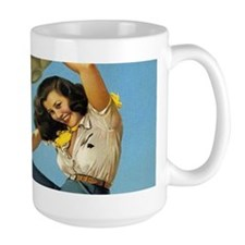 Kick up Your Heels Vintage Cowgirl Mug