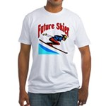 Future Snow Skier Fitted T-Shirt