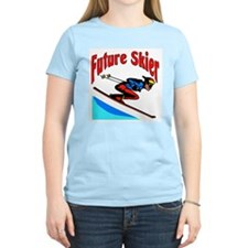 Future Snow Skier Women's Pink T-Shirt