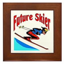 Future Snow Skier Framed Tile