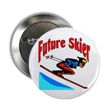 "Future Snow Skier 2.25"" Button (10 pack)"