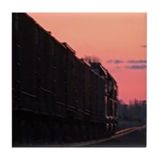 Red Night Freight Train