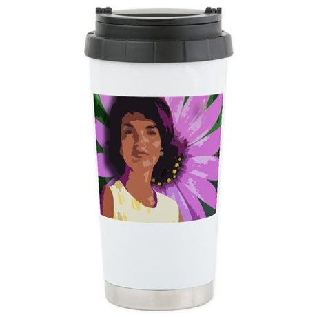 Jackie Oh! Daisy Stainless Steel Travel Coffee Mug