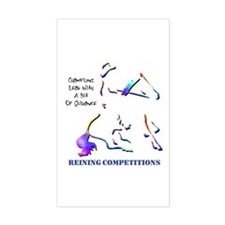 Reining Competitions Rectangle Decal