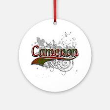 Cameron Tartan Grunge Ornament (Round)