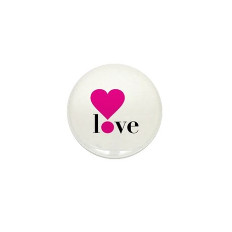 Love! in Hot Pink Mini Button (10 pack)