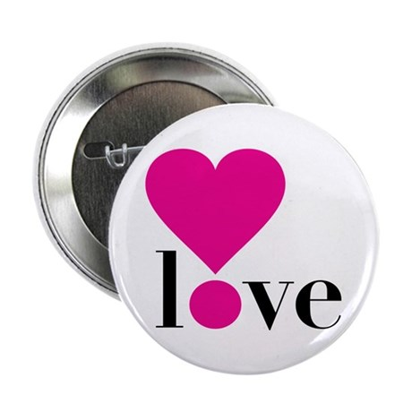 "Love! in Hot Pink 2.25"" Button (10 pack)"
