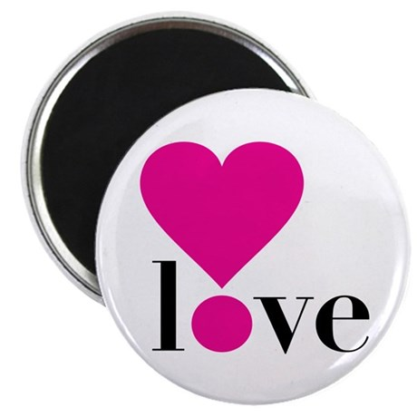 Love! in Hot Pink Magnet