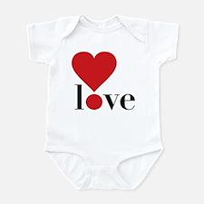 Love! in Red Infant Bodysuit