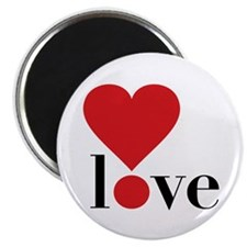 """Love! in Red 2.25"""" Magnet (10 pack)"""