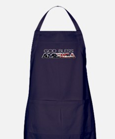 God Bless America Apron (dark)