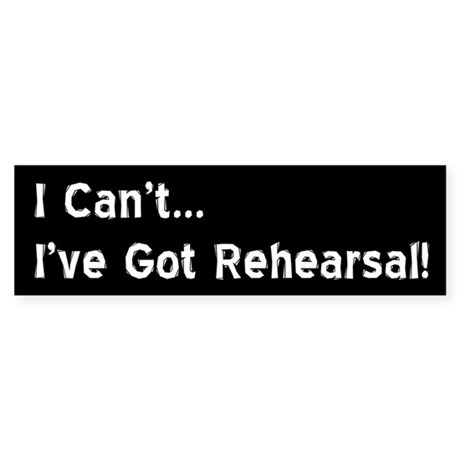 Funny Theatre Bumper Sticker