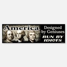 Designed by Geniuses Bumper Bumper Sticker