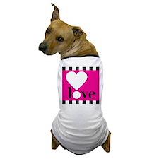 Love! on Hot Pink Dog T-Shirt
