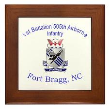 1st Bn 505th ABN Framed Tile