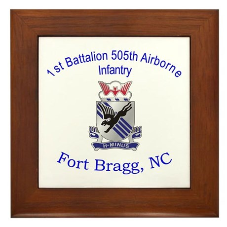 1st Bn 505th ABN Framed Tile