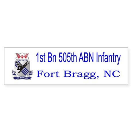 1st Bn 505th ABN Sticker (Bumper)