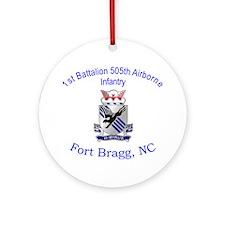 1st Bn 505th ABN Ornament (Round)